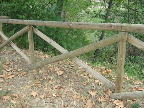 Palizzate in legno per giardino palizzata per terra for Staccionata in legno brico