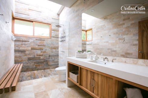 Baño : Baños de estilo moderno por Cristina Cortés Diseño y Decoración