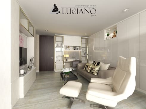 ตกแต่งภายใน Condo (Duplex) 2 ชั้น:   by luciano design studio