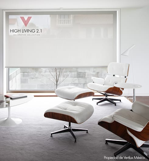 Tejido Garbi White: Estudios y oficinas de estilo moderno por Vertilux México