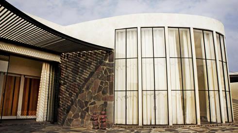 Casa de Piedra - Juan Carlos Loyo Arquitectura: Casas de estilo moderno por Juan Carlos Loyo Arquitectura