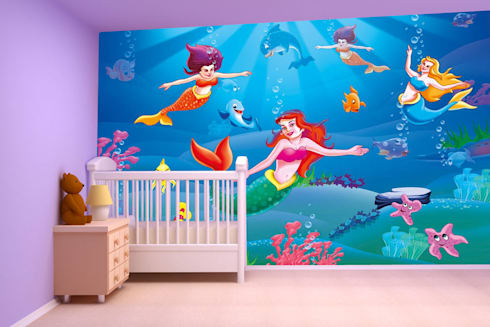 Cartoon, Galaxy, Fantasy wallpaper designs for kids room and home interiors . Walls and Murals:   by wallsandmurals