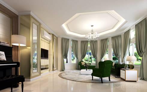 รับออกแบบ สร้างบ้าน และตกแต่งภายใน:  ตกแต่งภายใน by LOFTTID DESIGN