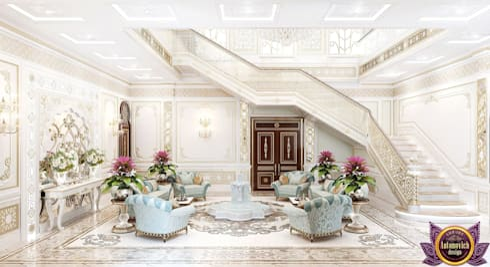 Villa Interior design in UAE of Katrina Antonovich:  Corridor & hallway by Luxury Antonovich Design
