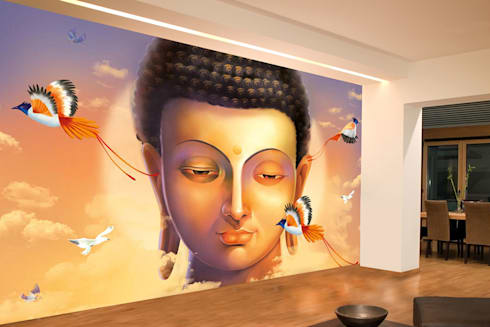 Asian Zen Wallpaper Theme And Buddha Wallpaper For Spa And Home Walls Decor  With Free Shipping