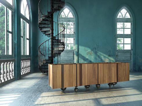 Il Pezzo 1 Credenza: modern Living room by Il Pezzo Mancante Srl