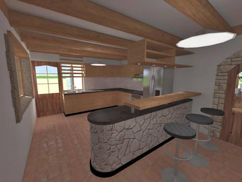 Cocina: Cocinas de estilo rústico por ROQA.7 ARQUITECTOS
