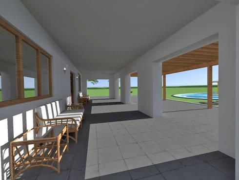Casa de Campo en Jayanca: Terrazas de estilo  por ROQA.7 ARQUITECTOS