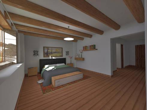 Dormitorio: Dormitorios de estilo  por ROQA.7 ARQUITECTOS