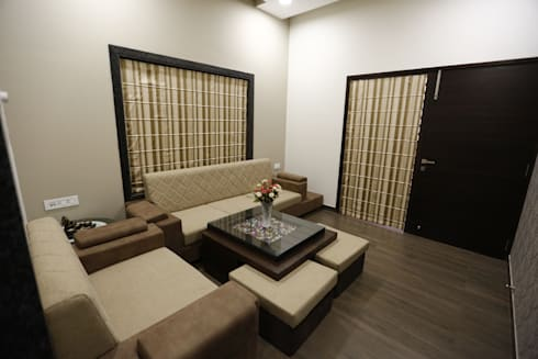 Drawing Room Interiors: modern Living room by RAVI - NUPUR ARCHITECTS