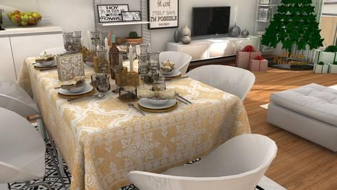 Christmas living room: Salones de estilo moderno de Blophome