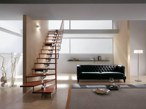 KNOCK DESING: Vestíbulos, pasillos y escaleras de estilo  por Rintal