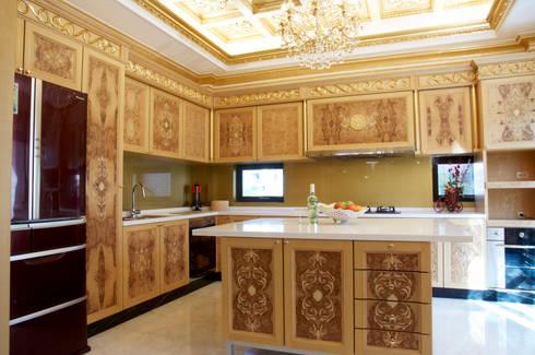歐式古典建築及室內設計家具配置:  廚房 by 傑德空間設計有限公司