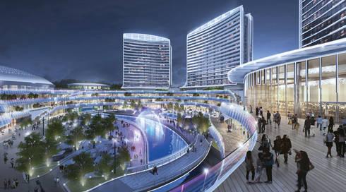 Novotown, Hengqin, Zhuhai, China, by Aedas :  Commercial Spaces by Aedas