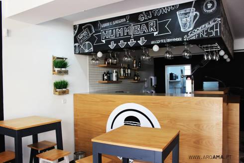 Hamburgaria Artesanal Humm: Espaços de restauração  por ARQAMA - Arquitetura e Design Lda