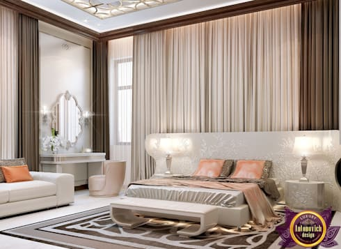 Interior Design bedroom by Katrina Antonovich: modern Bedroom by Luxury Antonovich Design