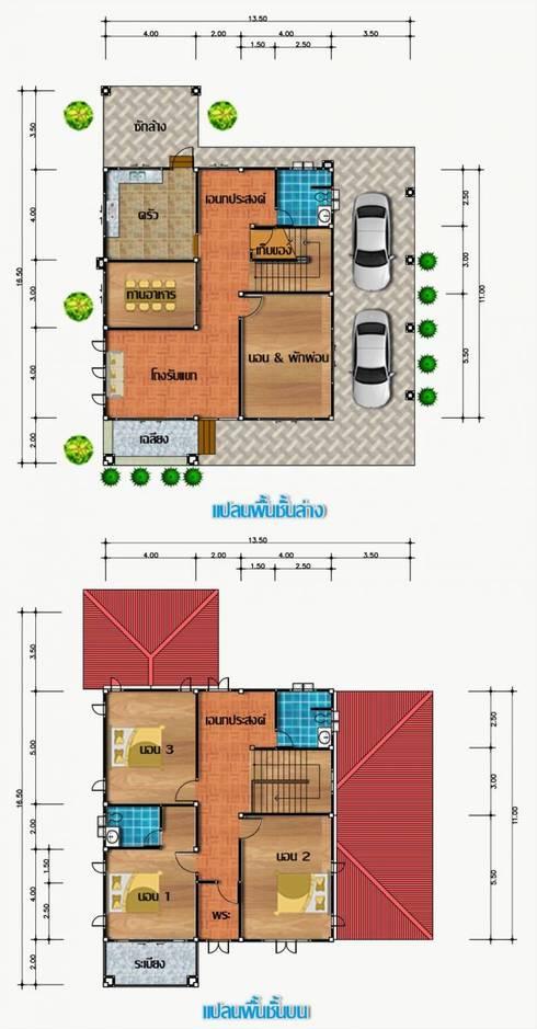 แบบบ้าน 2 ชั้นเดียว:   by บ้านอีสาน