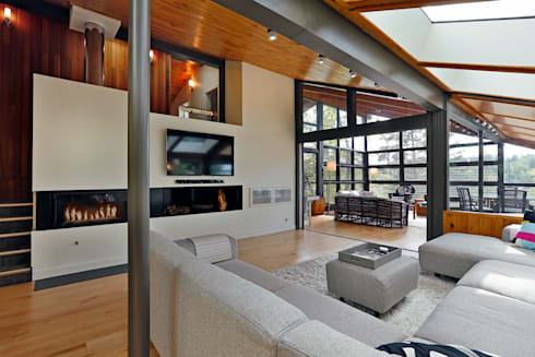 West Hawk Lake Interior: modern Living room by Unit 7 Architecture
