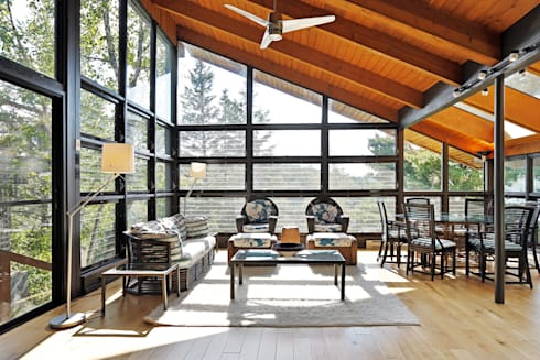 West Hawk Lake Interior:  Patios & Decks by Unit 7 Architecture