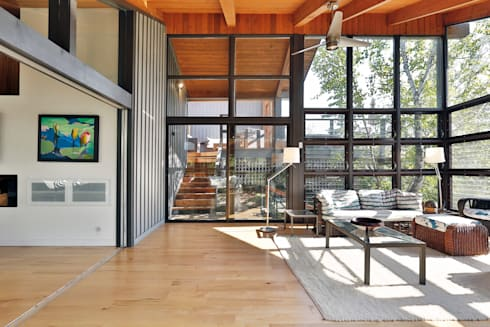 West Hawk Lake Interior: modern Conservatory by Unit 7 Architecture