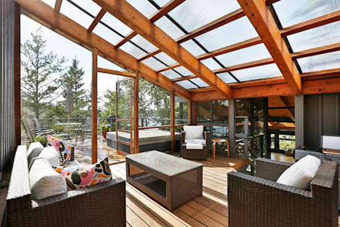 West hawk Lake Cottage: modern Conservatory by Unit 7 Architecture