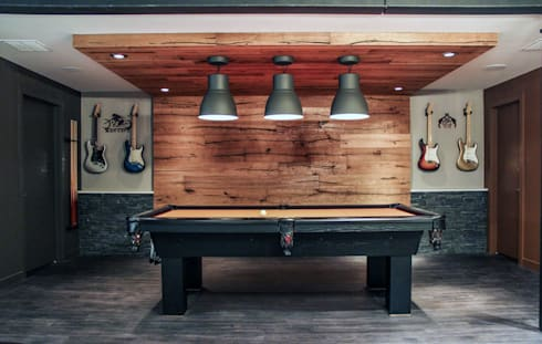 Bell Interiors: industrial Media room by Unit 7 Architecture