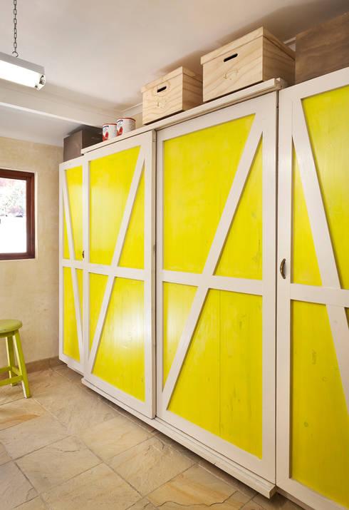 New storage area custom designed:  Kitchen by Deborah Garth Interior Design