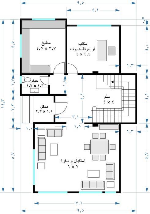 فيلا مودرن تطل علي بحيرة مريوط:  جدران تنفيذ New Home Architecture