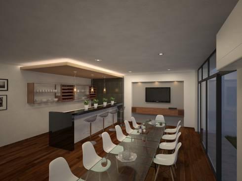 Propuesta de diseño y de mobiliario interior 01: Cavas de estilo moderno por RB Arquitectos