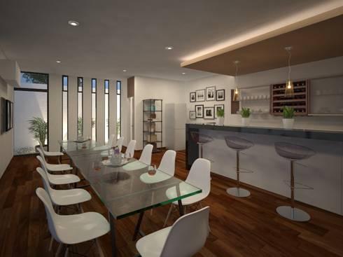 Propuesta de diseño y de mobiliario interior 02: Cavas de estilo moderno por RB Arquitectos