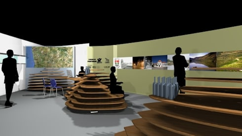 expositores CIT Sabrosa: Espaços comerciais  por ruicosta.arquitecto