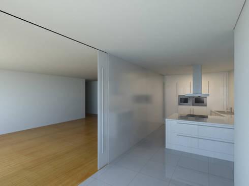 Projeto aprovado de edifício de habitação coletiva com vistas sobre o rio – À espera de investidores para construção:   por Albertina Oliveira-Arquitetura Unipessoal Lda
