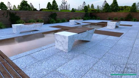 Ambiente Residencial – Exterior: Jardim  por Distone