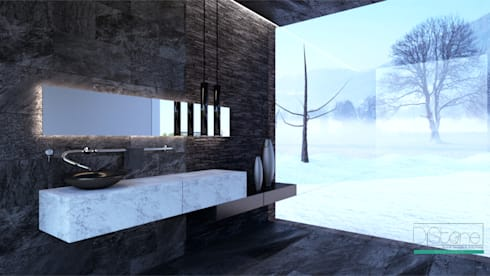 Ambiente Residencial - WC: Casa de banho  por Distone