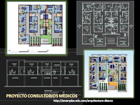 PROYECTO CONSULTORIOS MEDICOS:  de estilo  por A.M. ARQUITECTURA +DISEÑO