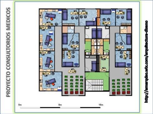 CONSULTORIOS MEDICOS: Oficinas de estilo moderno por A.M. ARQUITECTURA +DISEÑO
