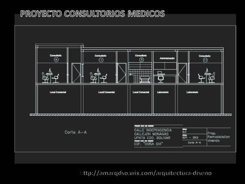 CONSULTORIOS MEDICOS:  de estilo  por A.M. ARQUITECTURA +DISEÑO