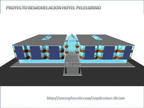 """Remodelación  """"Hotel Pellegrino"""""""":  de estilo  por A.M. ARQUITECTURA +DISEÑO"""
