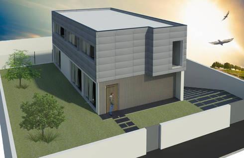 Casa Guilhovai: Casas modernas por OPUS - MATER