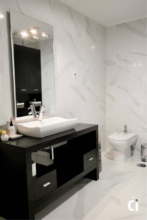 Remodelação de WC, 2016 - Braga: Casas de banho modernas por Ci interior decor