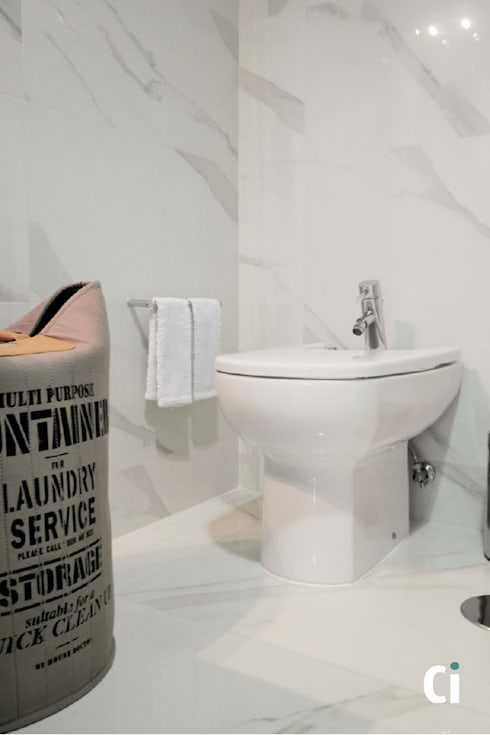 Remodelação de WC, 2016 – Braga: Casas de banho modernas por Ci interior decor