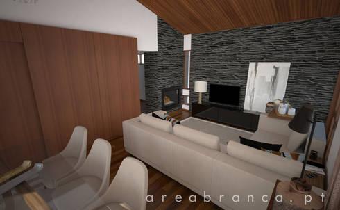 Sala Estar e Jantar: Salas de estar modernas por Areabranca