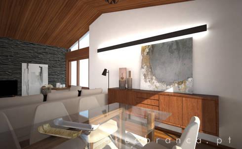 Sala Estar e Jantar : Salas de jantar modernas por Areabranca