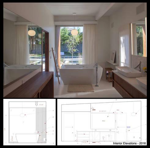 Emerald Street Residence, New Orleans: modern Bathroom by studioWTA