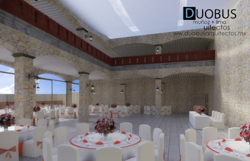 Interior Salón 3: Terrazas de estilo  por DUOBUS M + L arquitectos