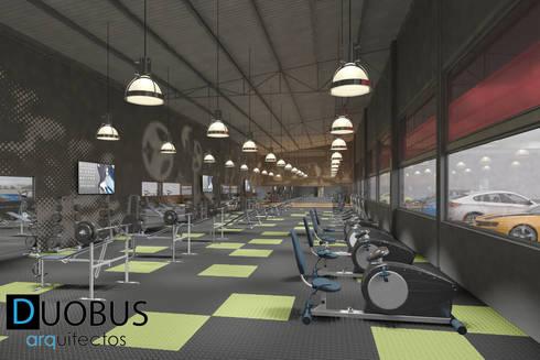 INTERIOR: Gimnasios de estilo moderno por DUOBUS M + L arquitectos