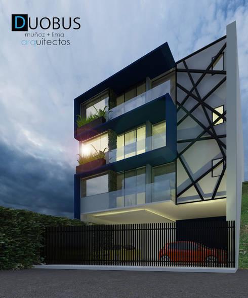 EXTERIOR: Casas de estilo moderno por DUOBUS M + L arquitectos