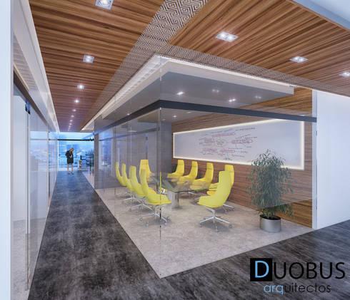SALA DE JUNTAS.: Estudios y oficinas de estilo moderno por DUOBUS M + L arquitectos