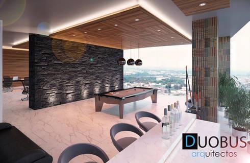 RECREATIVO: Estudios y oficinas de estilo moderno por DUOBUS M + L arquitectos