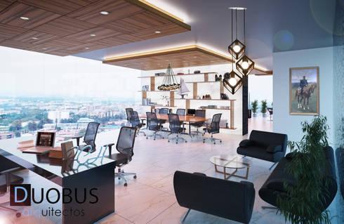OF.: Estudios y oficinas de estilo moderno por DUOBUS M + L arquitectos
